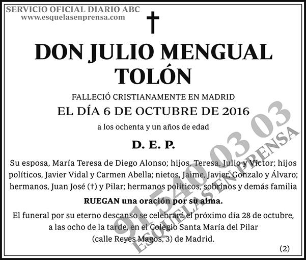 Julio Mengual Tolón
